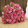 21 Köpfe Seidenblumen Kunstblumen Künstliche Roses Blumenstrauß Floristik Set so