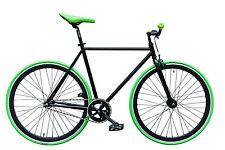 """WOO HOO BIKES - GREEN 15,5"""" - Fixed Gear Bicycle, Fixie, One Gear, Track Bike"""
