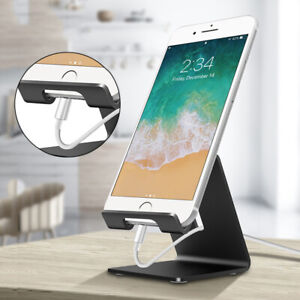 Universal Aluminum Metal Mobile Phone Tablet Desk Holder Stand For iPhone Samsun