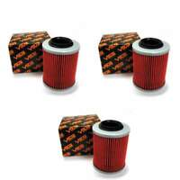 Volar Oil Filter - (3 pieces) for 2012 CAN AM Renegade 800R XXC EFI