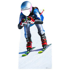 DOWNHILL SKIER Stand-In CARDBOARD CUTOUT Standup Standee Standin FREE SHIPPING