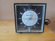 Vintage Sony 6RC-23 Solid State Transistor AM Radio/Alarm Clock Cube~Good Shape!