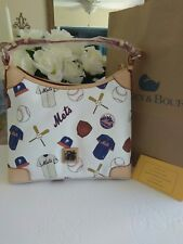 New York Mets Official Lets Go Mets MLB Dooney & Bourke White Hobo  -