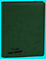 ULTRA PRO 9 POCKET PREMIUM LEATHERETTE GREEN BINDER STORAGE 360 Card 20 Pages