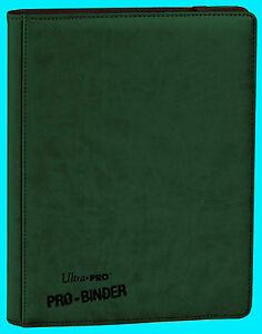 ULTRA PRO 9 POCKET PREMIUM LEATHERETTE GREEN BINDER STORAGE 360 Card 20 Pages