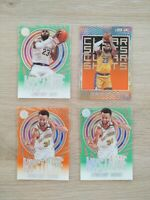 2019-20 ILLUSIONS BASKETBALL Lebron James & Steph Curry ACETATES SSP!!! Lot (4)