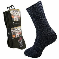 Wool Blend Patternless Multipack Socks for Men