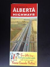 Rare ancien dépliant Brochure Alberta Canada Highways