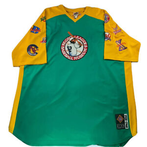 Negro League Baseball Museum NLBM 1920-1960 Green Yellow Team Patches Jersey 5XL