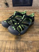 KEEN Newport H2 Waterproof Sport Hiking Shoes Sandals Black Green Men's Size 6
