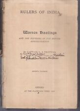 INDIA - RULERS OF INDIA WARREN HASTINGS BY CAPTAIN L J TROTTER 1905 PAGES 220