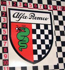 Vintage Style Alfa Romeo Shield Sticker for Italian Classic Car