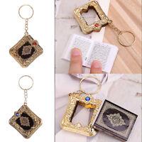 Resin Islamic Key Chain Mini Ark Quran Book Material Key Ring Car Bag For Gift
