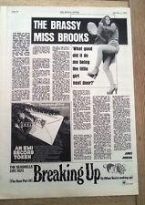 ELKIE BROOKS 'brassy Miss Brooks' 1972 UK ARTICLE / clipping - Vinegar Joe