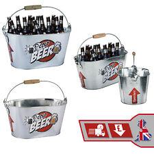 Ice Bucket Metal Beer Cooler Ice Drink Holder Cooling Bucket & Bottle Opener