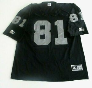 Vntg Oakland Raiders NFL Jersey XL Tim Brown 81 Starter 1995 Black