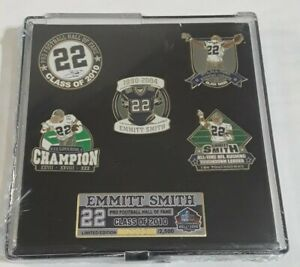 Emmitt Smith Dallas Cowboys 2010 NFL Hall of Fame Limited Edition Pin Set #0232