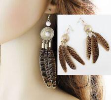 Feather Alloy Beauty Costume Earrings