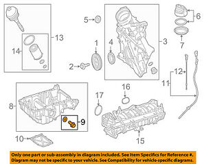 MERCEDES OEM 12-15 C63 AMG 6.3L-V8-Engine Oil Drain Plug 0029973430