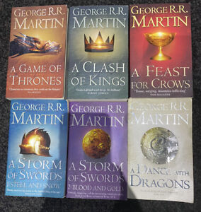 George R R Martin A Game of Thrones complete set A Song of Ice and Fire p/back