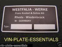 VW VOLKSWAGEN WESTFALIA INTERIOR PLATE PLAQUE BAY T3 T2 25 T4 CLASSIC CAR PART