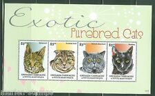 Grenada Grenadines 2014 Exotic Purebreed Cats Sheet Mint Nh