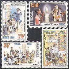 Senegal 1986 Natale/Saluti/Natività/PUPAZZO/Candela/Ballerini 4 V Set (n35894)