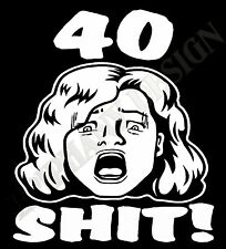 40 CUMPLEAÑOS T-SHIRT 41st 42nd 43rd 44th número 45 46th 47 48 49th