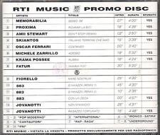"""883 / JOVANOTTI / SKIANTOS / AMII STEWART / PROXIMA  - RARO CD""""RTI PROMO DISC 1"""""""