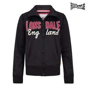 Lonsdale London Trainingsjacke Jacke Damen Pink Schwarz