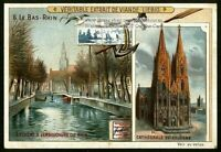 Rhine Rijn Rhin River Leyde Cologne Cathedral  Germany c1905 Trade Ad Card