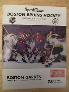 Boston 1971 BRUINS Program v MONTREAL CANADIENS w TICKET Bobby Orr Phil Esposito