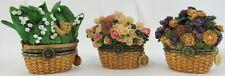 Set of 3 Boyd's Bears Trinket Birthday Boxes Flowers