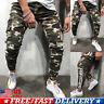 Men's Cargo Skinny Jeans Trousers Biker Pocket Camouflage Denim Joggers Pants US
