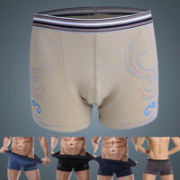 Men's Male Soft Underwear Boxer Briesfs Trunk Elastic High Waist Shorts