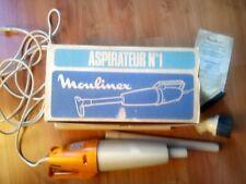 vintage retro Moulinex portable orange & beige vacuum cleaner hoover…