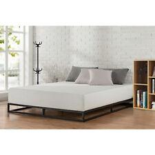 King Size Metal Platform Bed Frame With Wood Slats Bedroom Mattress Foundation