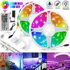 32.8FT 10M RGB Waterproof 300 SMD LED Strip Light 44 Key Remote 12V DC Power Kit