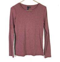 Cynthia Rowley Womens M Long Sleeve Shirt Heathered Red Stretchy
