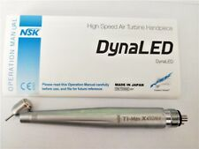 NSK Ti-MA X450 LED 45 Degree Dental High Speed Handpiece M4 4 holes with Light