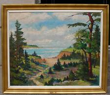 Kai Harald Pihl ( Danish/ American. 1894) Sea View Landscape. 1940s.