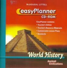 McDougal Littell World History: Ancient Civilizations EasyPlanner PC MAC CD NEW