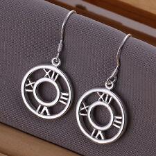 Free shipping wholesale sterling solid silver roman drop Earrings XLSE041