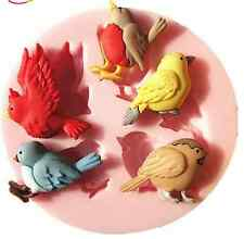 Bird polymer clay mold Chocolate Mould Flexible 3d Silicone Mold Candy cake
