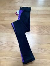 Figure Skating Pants by Motionwear - Adult Small Adult- Black with purple piping