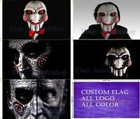 Jigsaw Film Movie Scary Saw Flag 90x150cm 3x5ft Free shipping