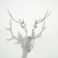 Funky & Fashionable White Stag / Deer Head - wall mounted approx W:450mm H:400mm