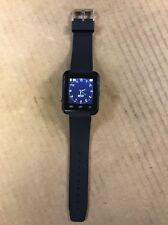 Black Touch Screen Smart Watch Used With Charger