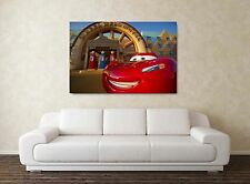 Cars Movie - 30x20 Inch Canvas Art Work - Framed Picture Print