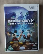 Nintendo Wii game - Disney Epic Mickey 2: The Power of Two + instructions